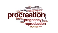 Procreation animated word cloud, text design animation. Stock Footage
