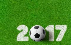 Football background 2017 Stock Photos