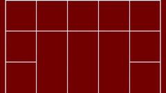 Geometric Stripes On Red Background HD Vj Loop Stock Footage