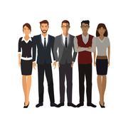 Businesspeople cartoon icon Stock Illustration