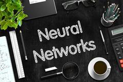 Neural Networks. 3D Rendering Stock Illustration