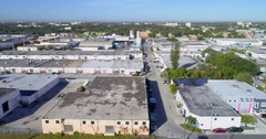 Industrial warehouse district Stock Footage