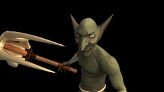 Menacing Goblin with Embedded Alpha Channel Stock Footage