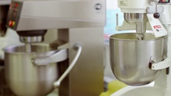 The process of making cream for cookies Stock Footage