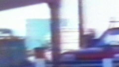VHS tape screen capyure with retro artifacts and glitch Stock Footage