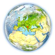 Serbia on Earth isolated Stock Illustration