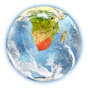South Africa on Earth isolated Stock Illustration