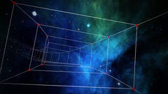 Traveling through a plexus tunnel in space - Space Travel 2231 Stock Video Arkistovideo