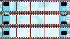 Grunge filmstrips set Stock Footage