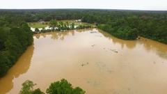 Aerial drone flood flooded Louisiana Arkistovideo