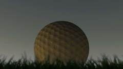 A shallow depth of focus time lapse over a day of a golf ball in the grass Stock Footage