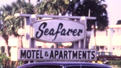 Sounthern USA vacation, 8mm home movie Stock Footage