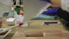 Process of work in the design studio. Stock Footage