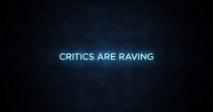 Digital Glitching Movie Credit Text   Critics are Raving Stock Footage