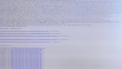 Computer Code Scrolling Through Screen Stock Footage