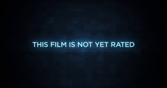Digital Glitching Movie Credit Text   This Film Is Not Yet Rated Stock Footage