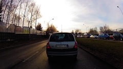 A quick trip on the Polish roads Stock Footage