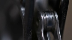 Chain from the bike shot in the macro lens Stock Footage