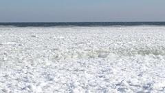 The Black Sea froze near Odessa, Ukraine, February 09 - 2017 Stock Footage