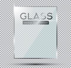 Glass Plate Isolated On Transparent Background. Stock Illustration