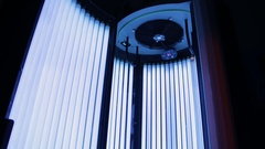 Solarium at the spa center Stock Footage