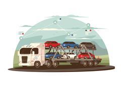 Transportation of cars Piirros