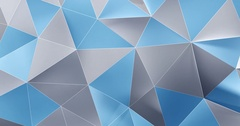 Metal Blue Abstract Polygonal Surface Stock Footage