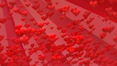 Valentines day background with hearts Stock Footage