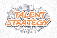 Talent Strategy - Doodle Orange Word. Business Concept Piirros