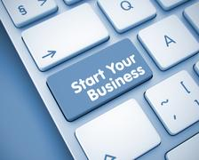 Start Your Business - Message on the  Keyboard Button. 3 Piirros