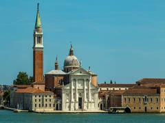 Time lapse view of San Giorgio island, Venice, Italy Stock Footage
