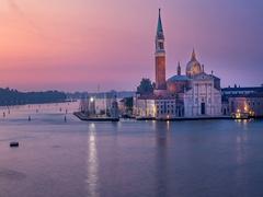 Time lapse view of San Giorgio island, Venice, Italy Stock Footage