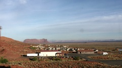 Timelapse of a red, navajo, desert town, near monument valley, in Arizona, .. Stock Footage