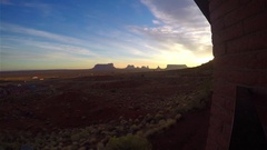 Timelapse of gouldings town, at monument valley, in Arizona, United states .. Stock Footage