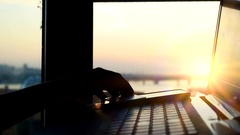 Online mobile payment method using mobile smart phone and credit card. Close up Stock Footage