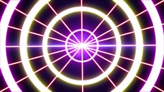 Laser abstracts futuristic Background.  Neon lights vintage Circles tunnel loop. Stock Footage