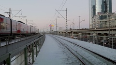 Small ring of the Moscow railway Stock Footage