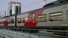 Moscow center ring MCC type of surface passenger transport Stock Footage