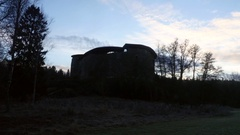 Zooming timelapse of Raseborg medieval castle, fortress ruins, at a cloudy .. Stock Footage