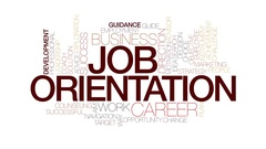 Job orientation animated word cloud, text animation. Kinetic typography. Stock Footage