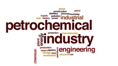 Petrochemical industry animated word cloud, text design animation. Stock Footage