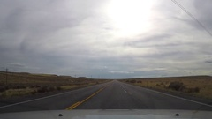 Timelapse hyperlapse of driving in  on route 93, near jackpot town, on a no.. Stock Footage