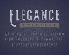Linear letters and numbers. Decorative typeface Stock Illustration