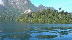 Cheow Lan lake in National Park Khao Sok, Thailand Stock Footage