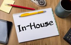 In-House - Note Pad With Text Stock Photos