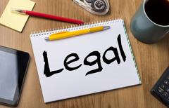 Legal - Note Pad With Text Stock Photos