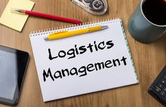 Logistics Management - Note Pad With Text Stock Photos