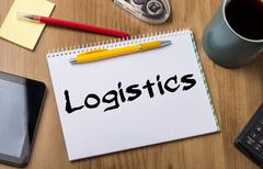 Logistics - Note Pad With Text Stock Photos