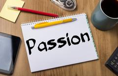 Passion - Note Pad With Text Stock Photos