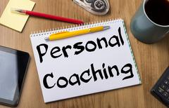 Personal Coaching - Note Pad With Text Stock Photos